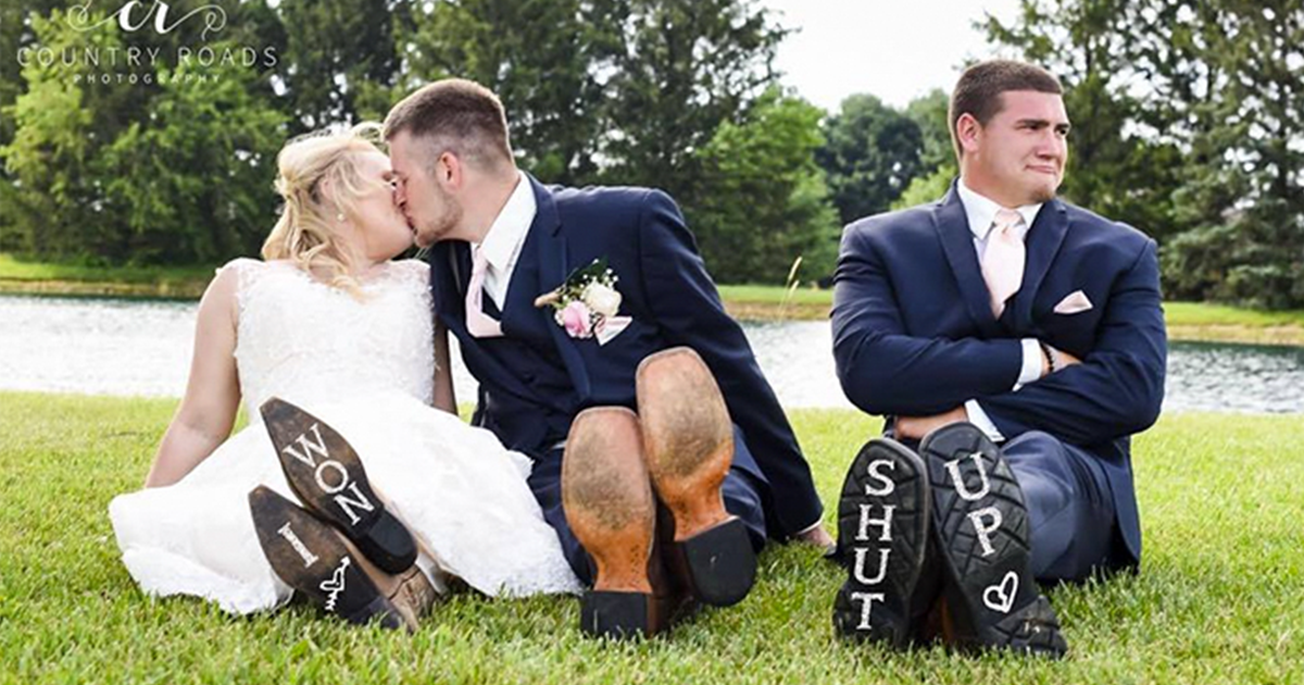 Third Wheel Best Man Hijacks His Best Friend S Wedding Photoshoot And It S Hilarious Bored Panda