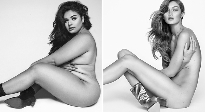 This Is What Happens When A Plus-Size Model Tries To Recreate Gigi Hadid's Nude Photo Shoot