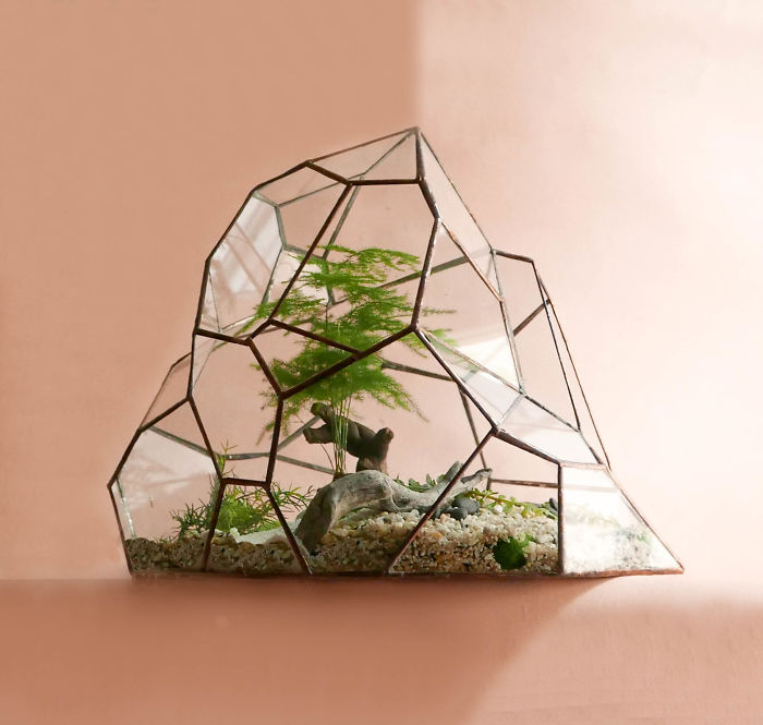 We Create Stained Glass Terrariums For Plants