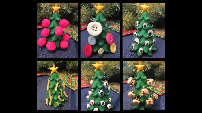 I Made A Tiny Christmas Tree And Decorated It With Unusual Ornaments