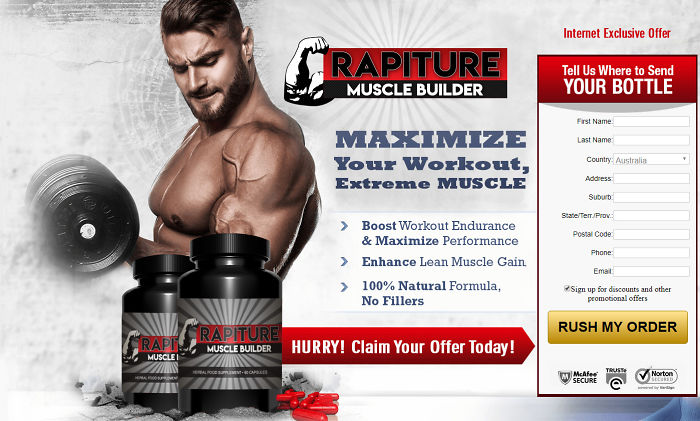 Rapiture Muscle Builder: Boost Stamina And Muscle, Read Benefits And Price!