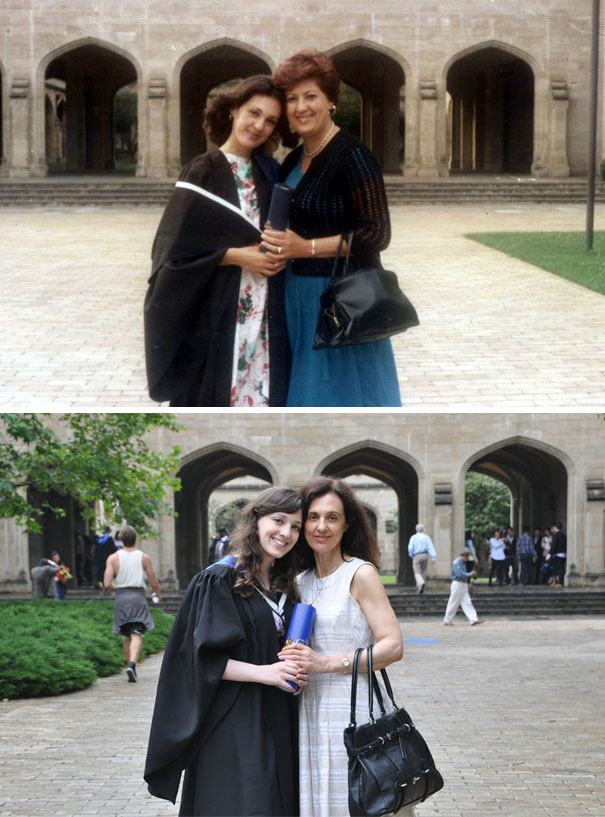 My Mum And Grandmother (1977); Me And My Mum (2012). Two Generations Of University Of Melbourne Graduates