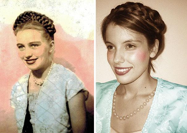 It's My Grandma's 79th Birthday Today. Here's Her In 1949 VS. Me In 2015