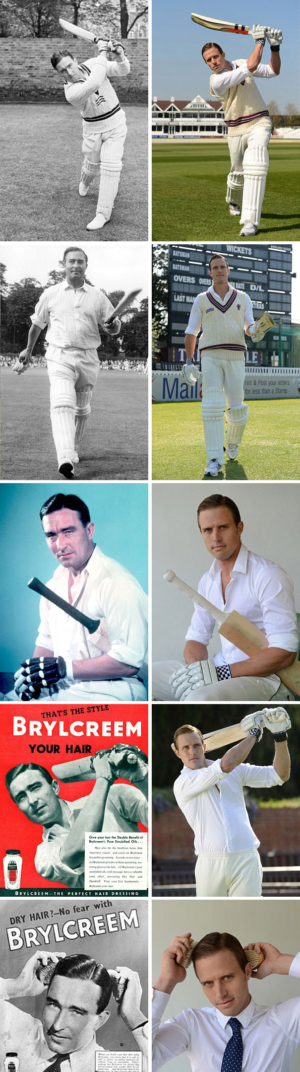 Nick Compton Has Recreated His Grandfather Denis Compton's Photos And Adverts