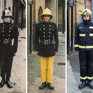 3 Generations Of Firefighters: From Left - Grandfather Colin Gunn In 1966, Father Nick Gunn In 1988 And Son Owen Gunn In 2015