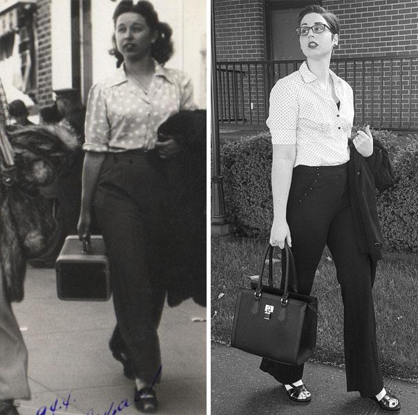 I Recreated My Grandma's Look With Modern Versions