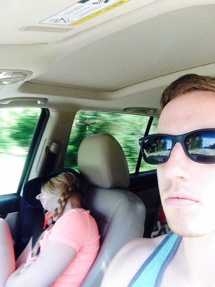 Asleep wife ass