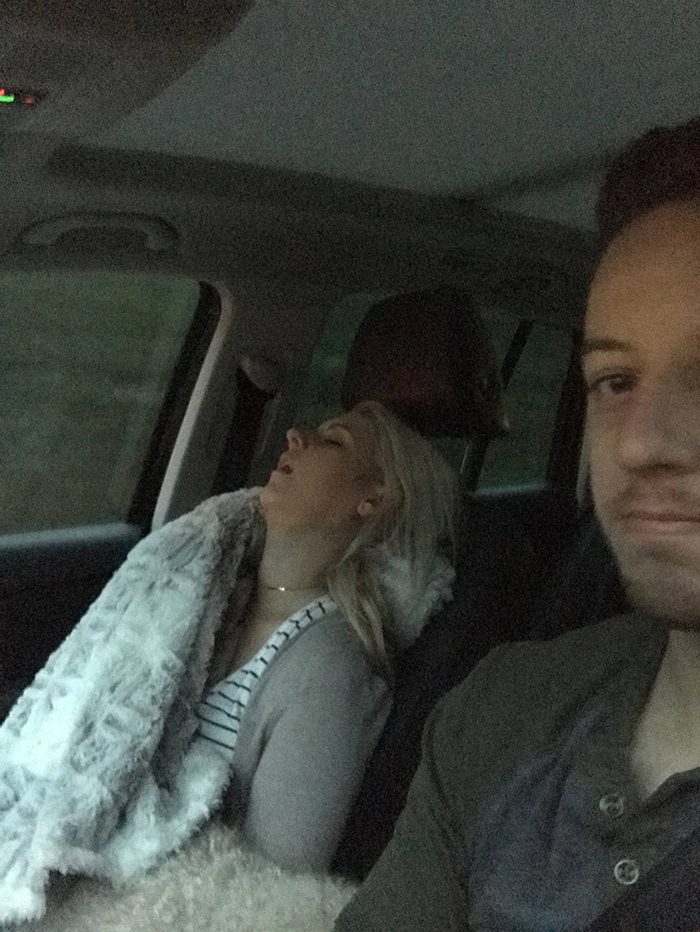 Husband Compiles Photos From All The Fun Road Trips He Takes With His Wife, And The -4207