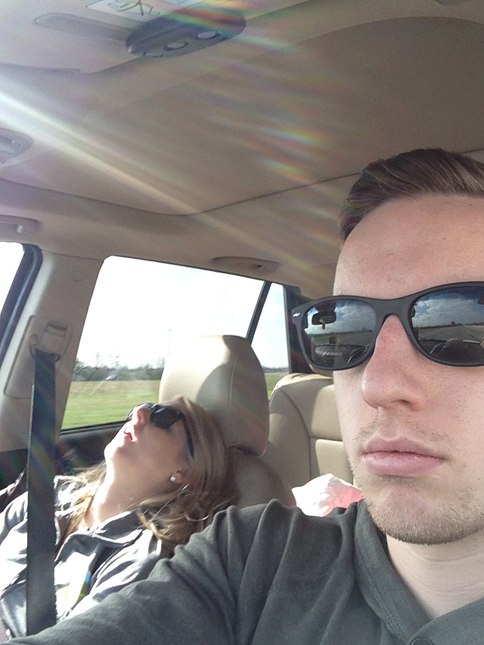 Husband Compiles Photos From All The Fun Road Trips He Takes With His Wife, And The -1813