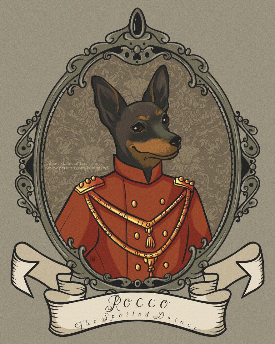 Rocco, The Spoiled Prince With His Smug Smile