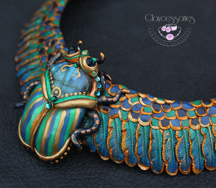 I Use Polymer Clay And Natural Stones To Create Egyptian Jewellery!
