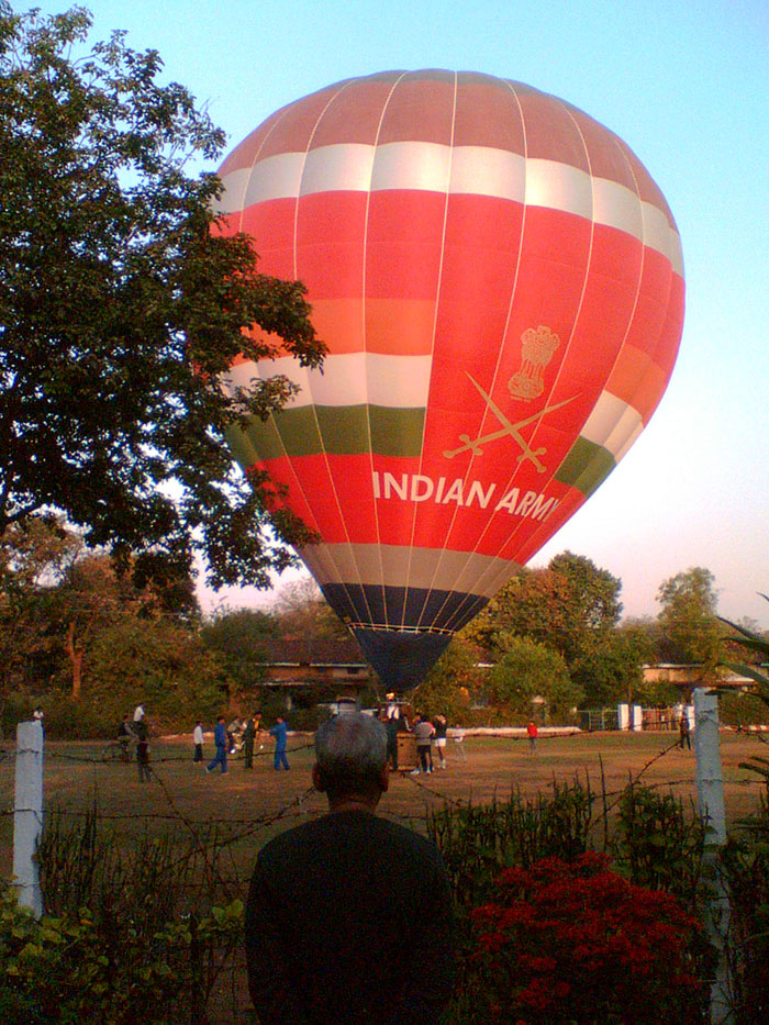 I Was Once Woken Up On An Exam Day By Strange Whirring Sounds To Find A Huge Indian Army Hot-Air Balloon Landing In Front Of Our House. This Was Sometime In 2007