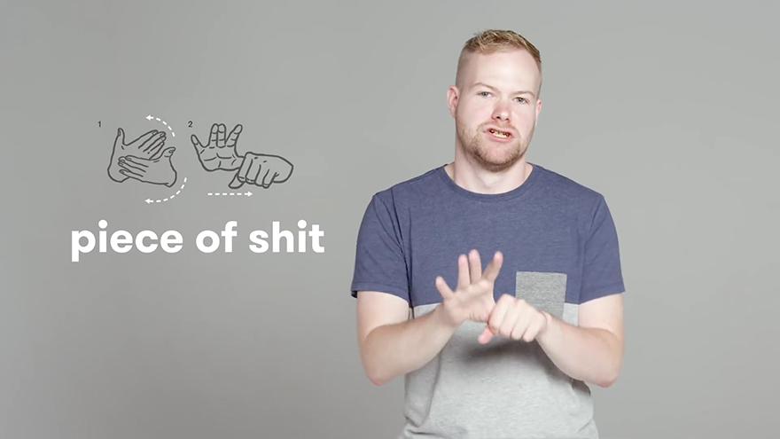 deaf people show how to swear in sign language and it�s