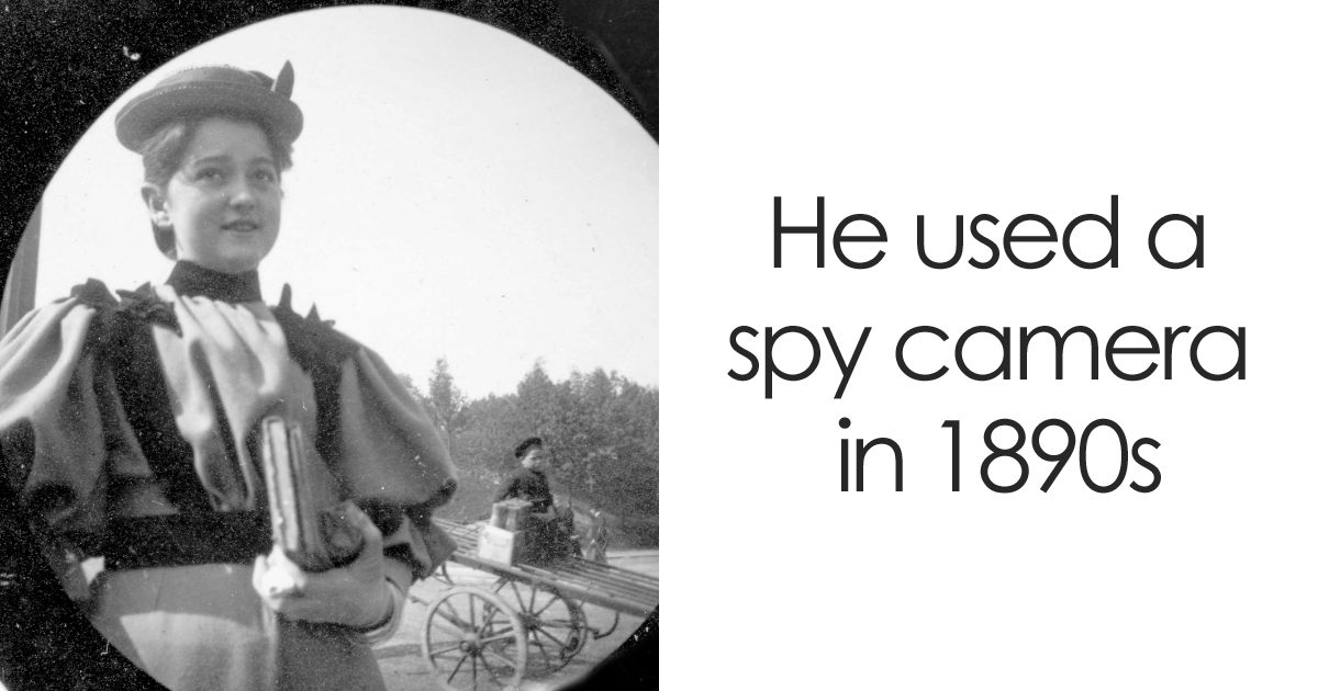 19-Year-Old Student Hides Spy Camera In His Clothing To Take Secret Street Photos In The 1890s