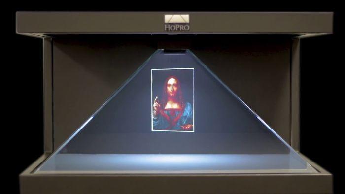 Salvator Mundi (Leonardo Da Vinci) 3d Vaizdo Holograma