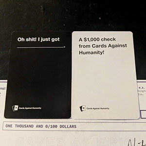 'Cards Against Humanity' Sends Checks To Their Lowest-Earning Customers And It's Bringing Attention To Wealth Inequality