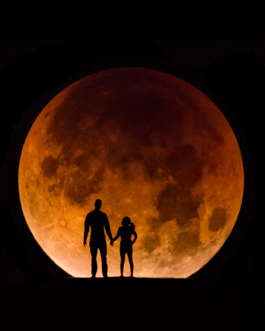 """Incredible Images Of The Rare """"Super Blue Blood Moon"""" That I Captured Yesterday Morning"""