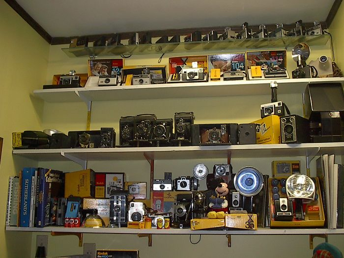 I Collect Kodak Cameras. This Is Part Of My Collection Of About 300, Dating Back To The Late 1800s.