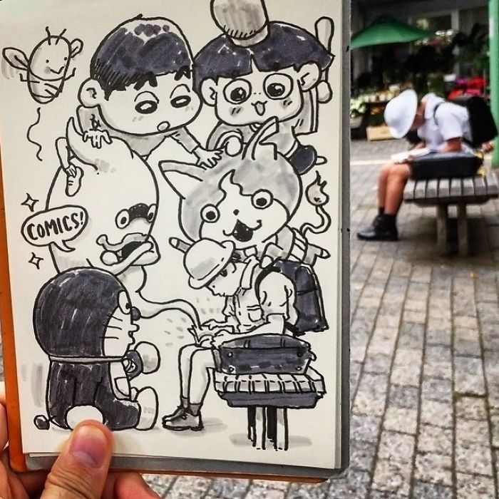 Japanese Illustrator Draws Scenes From Everyday Life And The Result Is Beautiful