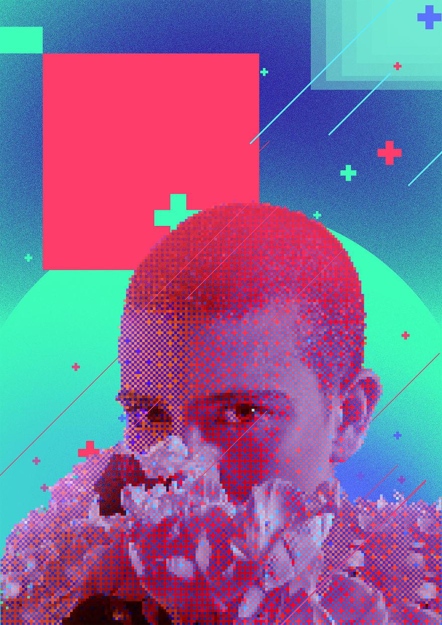 I Make Vaporwave Inspired Posters Exploring Communication In Digital World Every Day