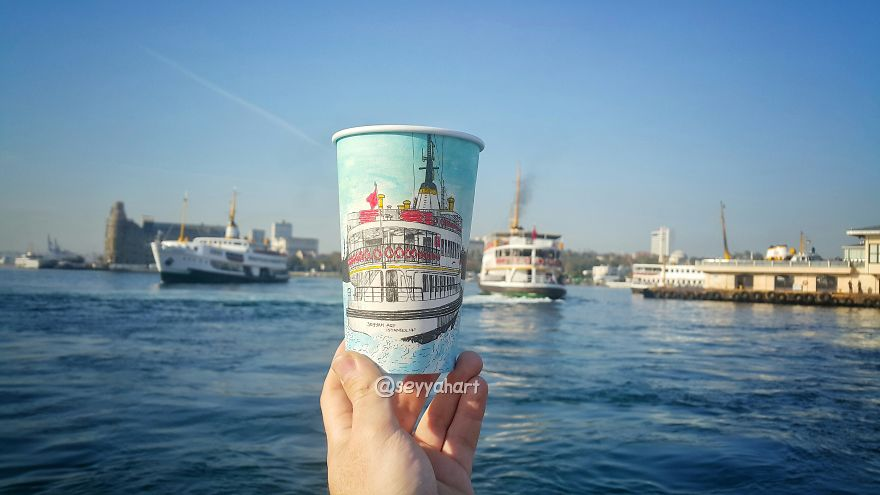 You Breathe Fascinating Atmosphere Of Bosphorus With A Ferry.