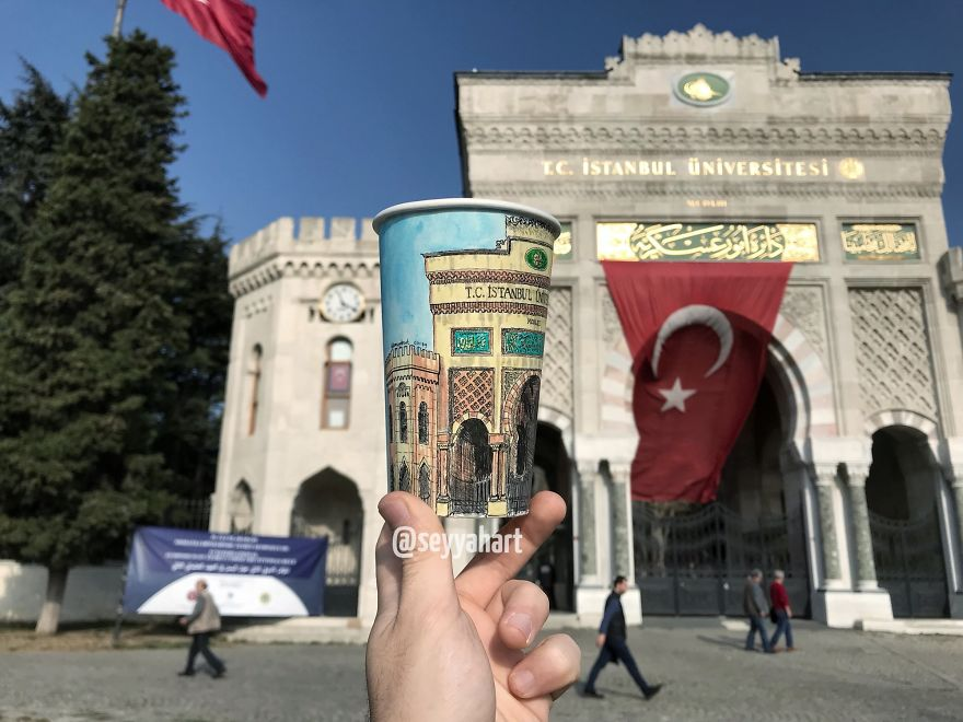 Historical Gate Of Turkey's First University, Istanbul University