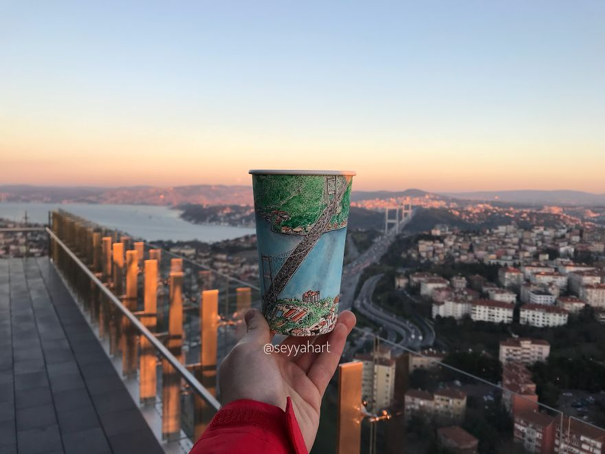 Final Cup Is The Point Connecting Two Continents, Fatih Sultan Mehmet Bridge.