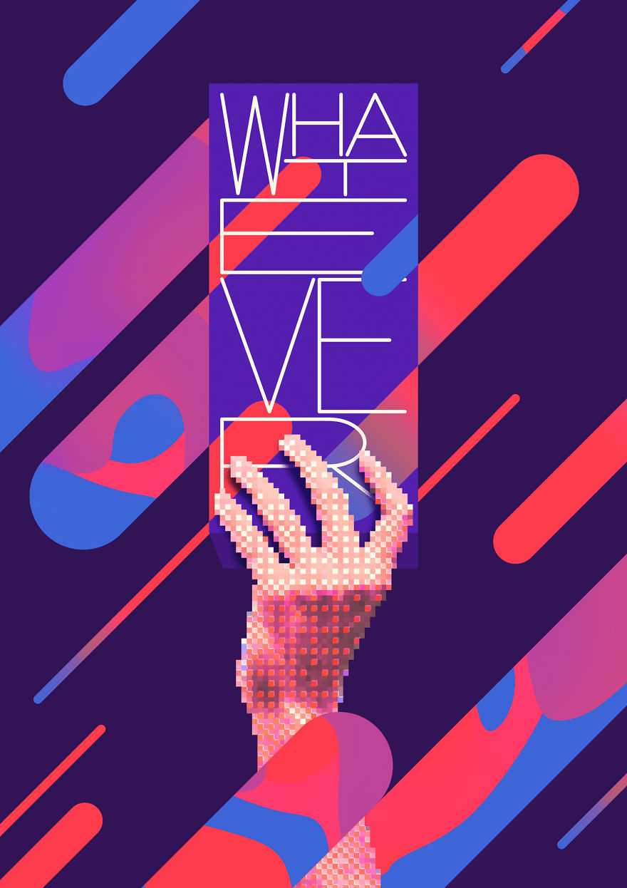 I Make Vaporwave Inspired Posters Exploring Communication In Digital World Every Day