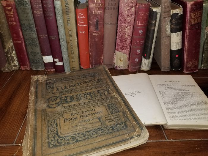 I Collect Antique Books (Anything Over 100 Years Old)--But Only From Yard Sales And Thrift Shops. The Oldest So Far Is From 1856.