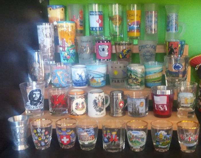 We Collect Shot Glasses From Every Country We've Been To.