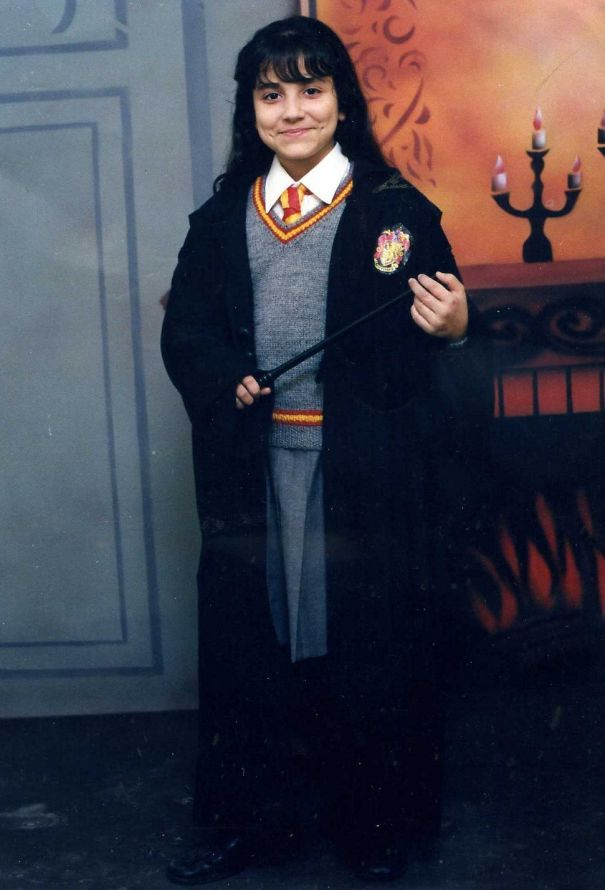 2002 - The Year I Met Harry Potter :) We Bought The Shirt And Skirt, But The Rest Of The Costume Was Made By My Mom :)