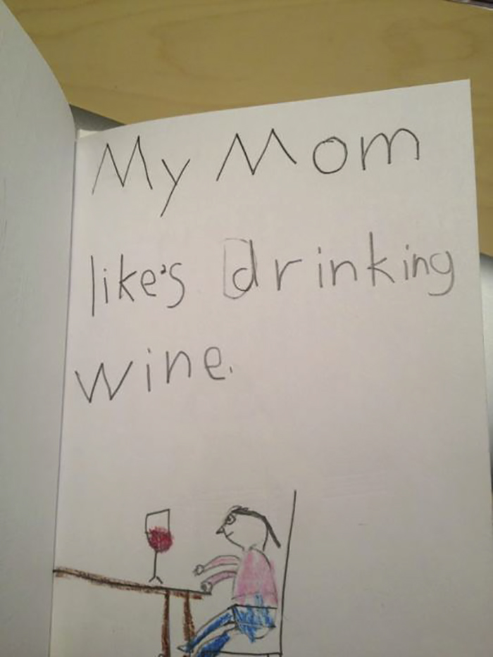 """My Friends Daughter Had A School Assignment To Draw """"Family Card"""""""