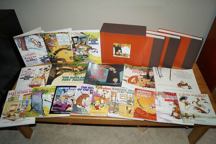 Just Finished My Calvin And Hobbes Collection. Every Book That Was Ever Published