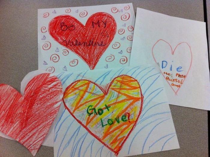 Kids Are Brutal. Valentines Cards
