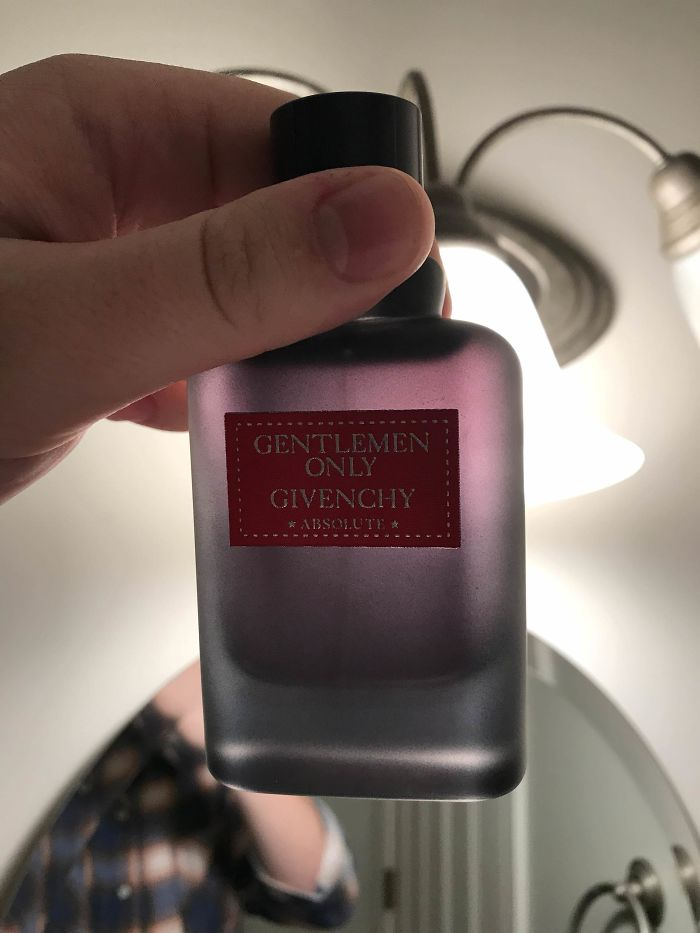 Holding My Cologne Up The The Light Showed That The Bottle Isn't Nearly As Big As It Appears