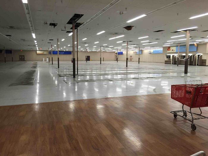 This Is What A Walmart Looks Like After It's Been Gutted