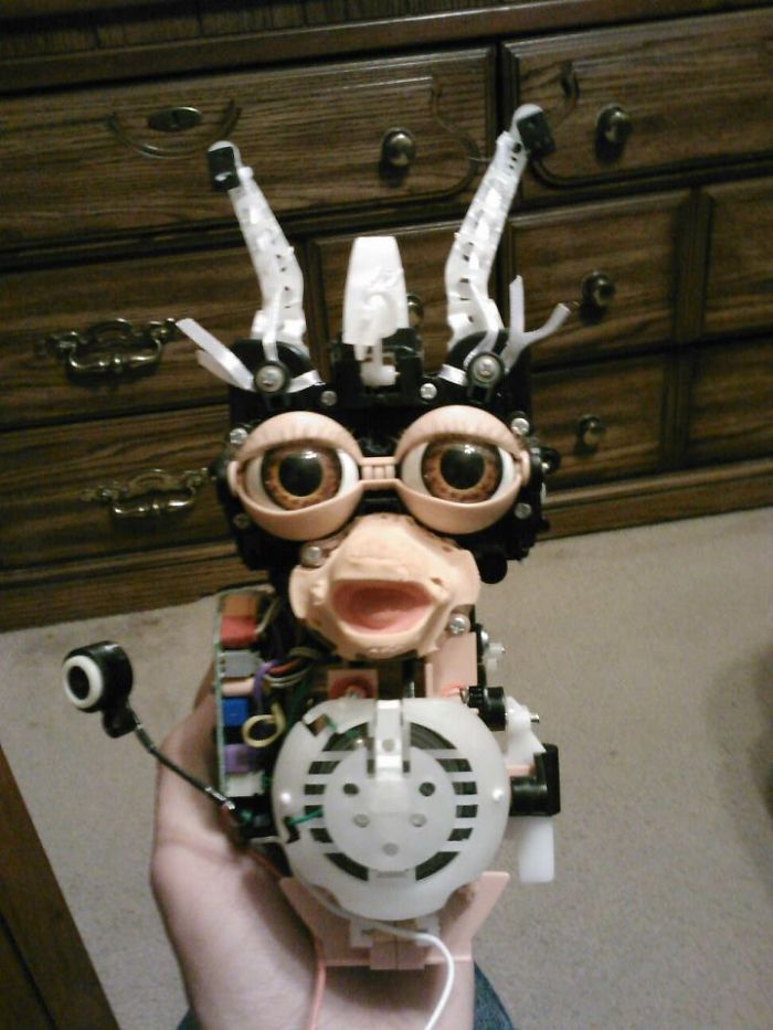 Ever Wonder What A Furby Looks Like Without Its Fur? Now You Know