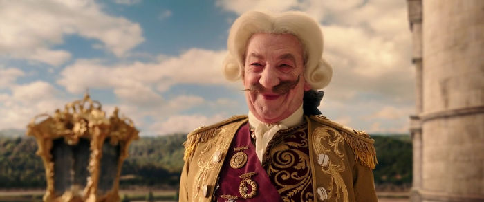 In 2017's Beauty & The Beast, After Becoming Human Cogsworth's Mustache Is Uneven Just Like The Hands Of A Clock