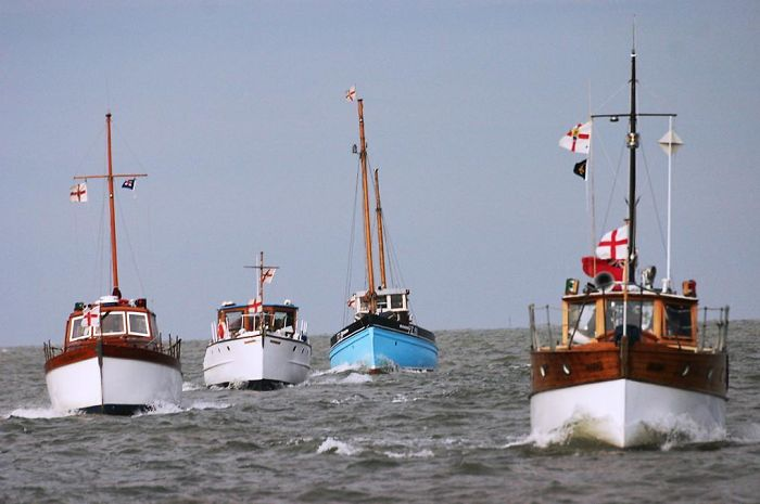 20 Of The Little Civilian Boats Used For Filming In Dunkirk (2017) Took Part In The Evacuation In Real Life, Saving Countless Lives