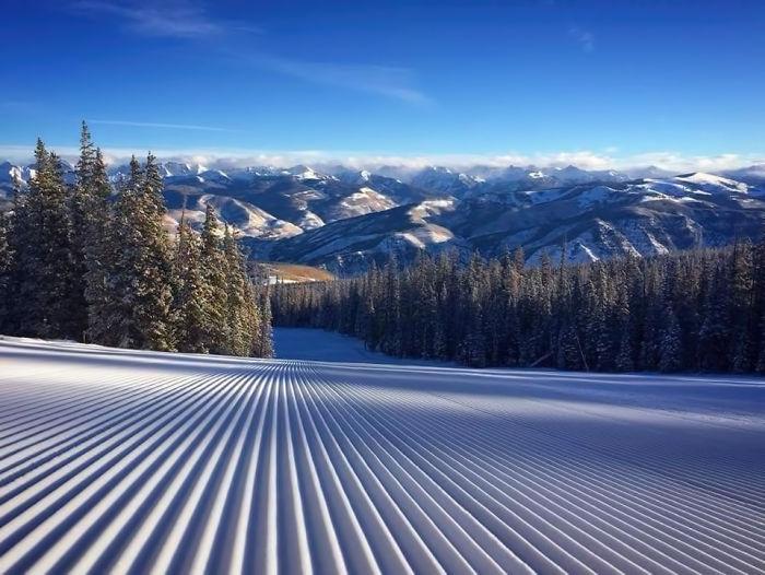 """Snow, """"Freshly Groomed"""", Beaver Creek, Colorado"""