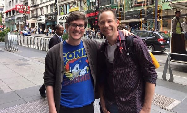 Got Stopped On The Streets Of Downtown San Francisco For Wearing An Old School Sonic The Hedgehog Shirt By The Voice Of Video Game Sonic Himself (Ryan Drummond)!
