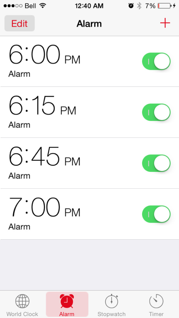 Falling Asleep And Double Checked My Alarm, The Night Before My First Day On The New Job. Close Call