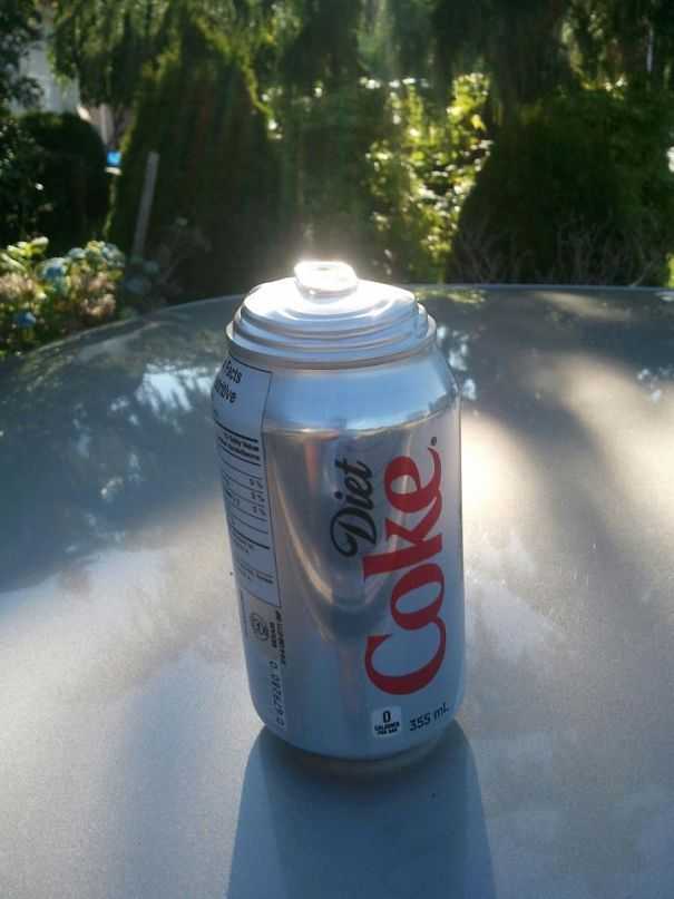Left A Can Of Coke In My Car. I Think I Narrowly Avoided A Disaster