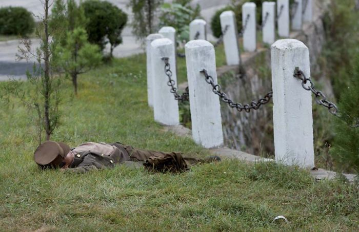 This Soldier Was Sleeping In A Field