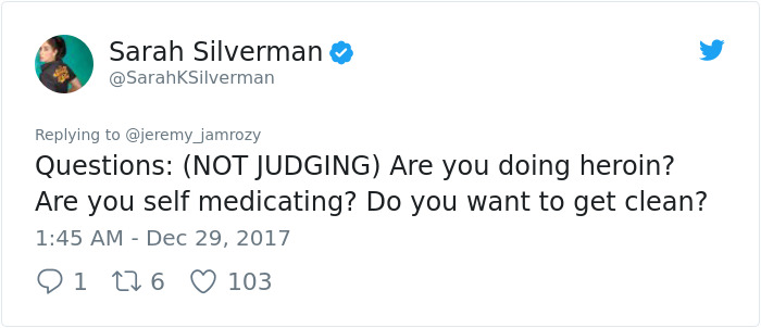 Sexist Troll Attacks Sarah Silverman On Twitter, And Her Unexpected Response Turns Man's Life Upside Down
