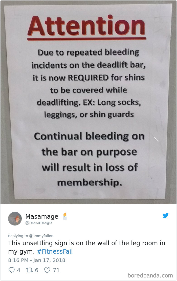 Fitness Fail