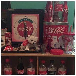 A Small Portion Of My Coke Collection