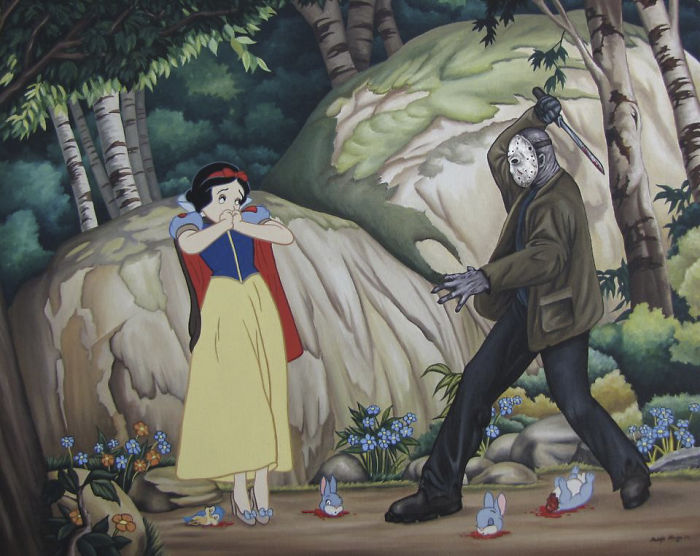 Artist Makes Disney Characters Struggle With The Reality Of Our Modern World And The Result Is Controversial