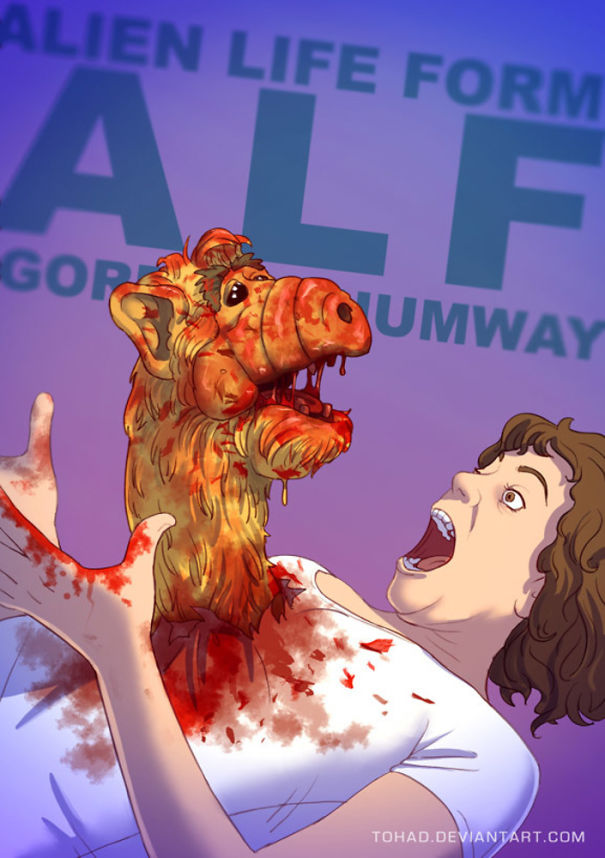 Artist Turns Characters Of Our Childhood As Bloody As Those Of Tarantino