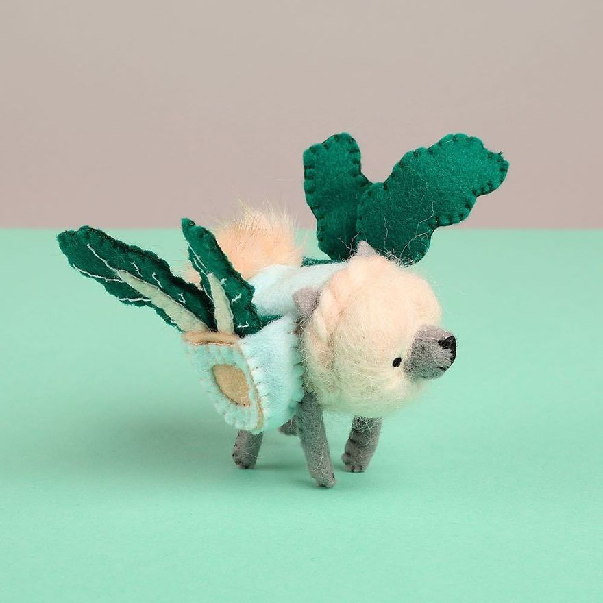 You Will Surely Want To Have A-Meet The Friendly Animals Made In Felt By The Artist Cat Rabbit